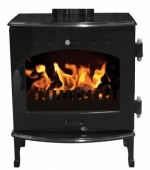 Carron Black Enamel 4.7kW DEFRA Smoke Exempt Multifuel Stove